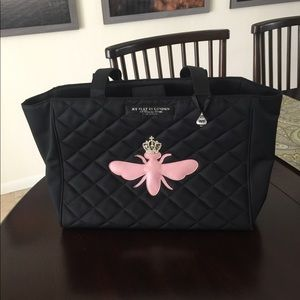 My Flat In London Pink Crowned Queen Bee Tote